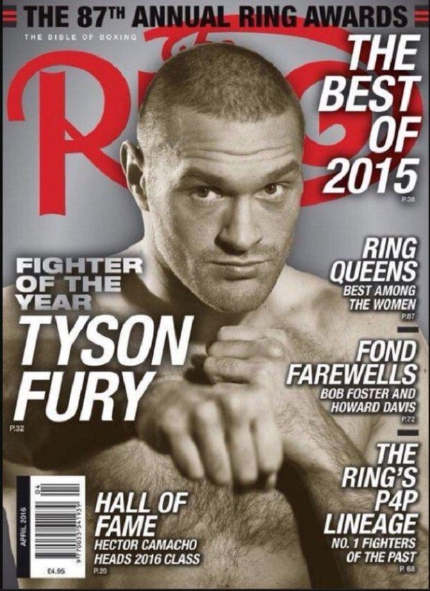 Итоги 2015 года от журнала The Ring: Фьюри — лучший боксёр