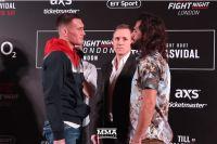 Битва взглядов участников турнира UFC Fight Night 147: Тилл - Масвидаль