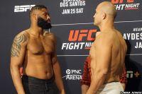 Взвешивание и битвы взглядов перед турниром UFC Fight Night 166: Кертис Блейдс - Джуниор Дос Сантос