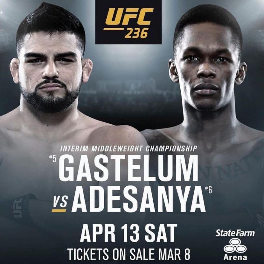 Келвин Гастелум - Исраэль Адесанья. Превью ко-мейн ивента UFC 236