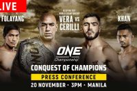 Прямая трансляция ONE Championship: Conquest of Champions: Брэндон Вера – Мауро Кирилли