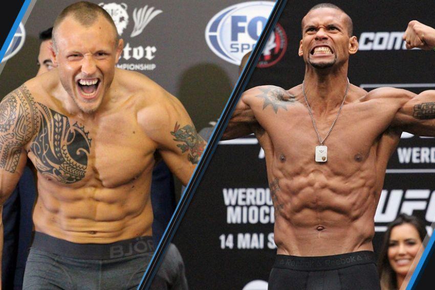 Видео боя Тиаго Сантос - Джек Херманссон UFC Fight Night 119