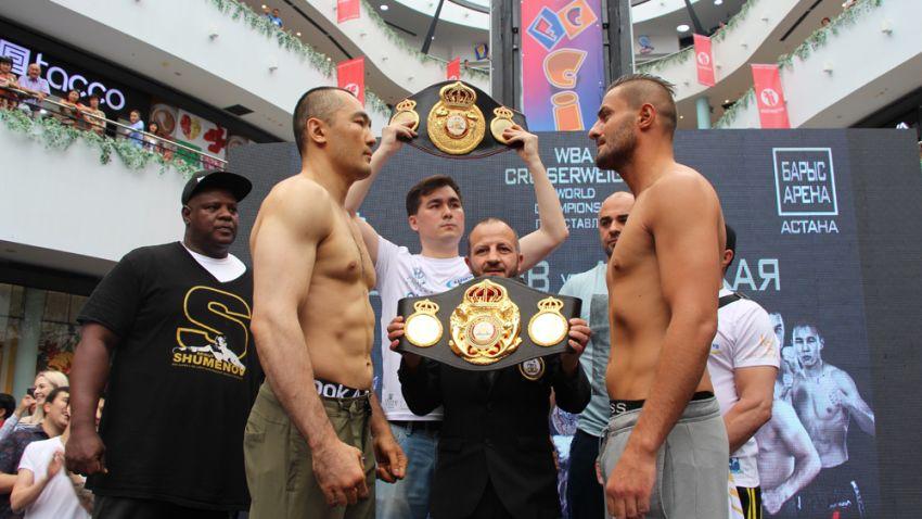 Бейбут Шуменов досрочно победил Хижни Алтукаю и завоевал титул WBA Regular