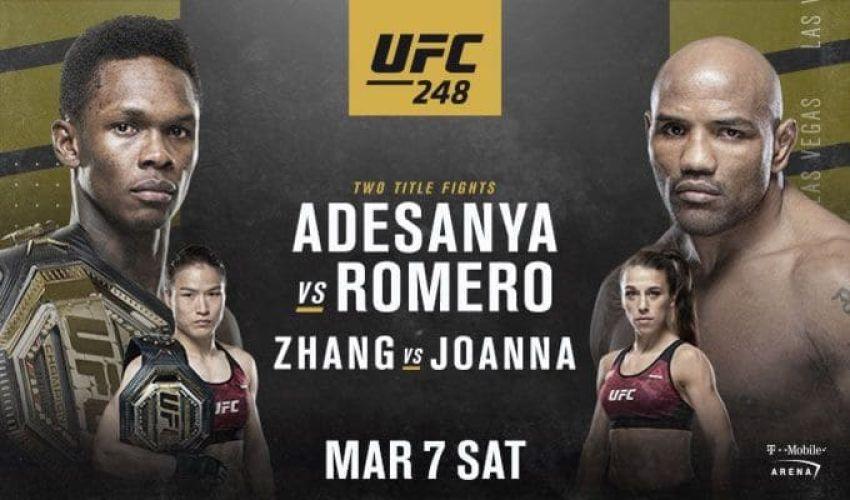 Ставки на UFC 248: Коэффициенты букмекеров на турнир Исраэль Адесанья - Йоэль Ромеро, Вейли Жанг - Йоанна Енджейчик