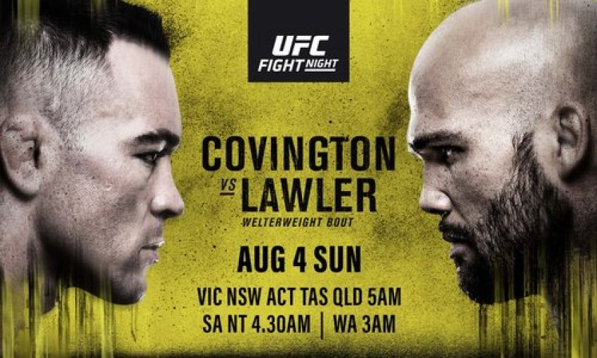 Файткард турнира UFC on ESPN 5: Колби Ковингтон - Робби Лоулер