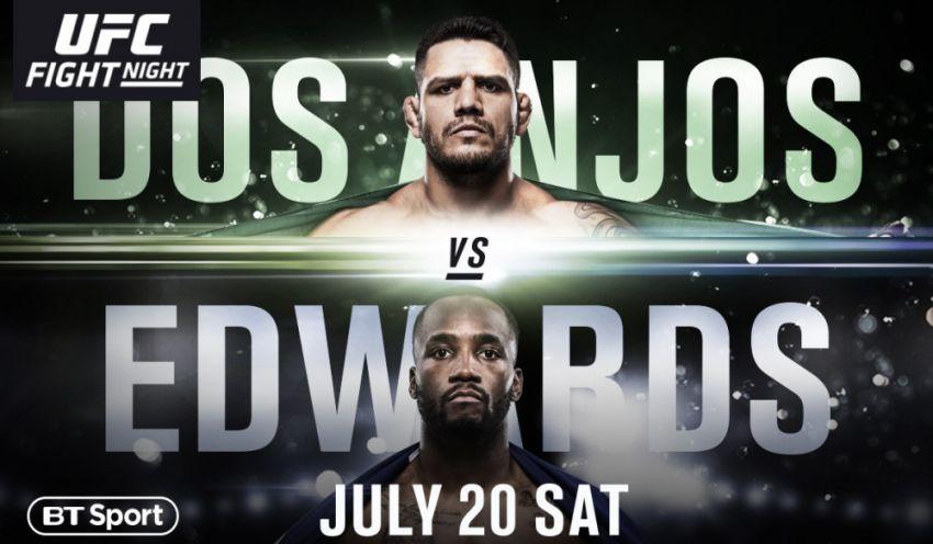 Где смотреть UFC on ESPN 4: Рафаэль Дос Аньос - Леон Эдвардс, Алексей Олейник - Уолт Харрис