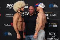 Видео боя Хабиб Нурмагомедов - Джастин Гэтжи UFC 254