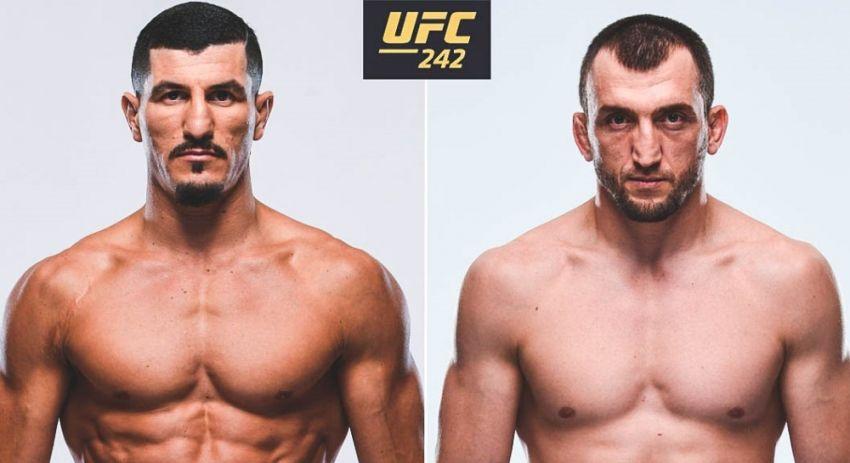 Муслим Салихов - Нордин Талеб на UFC 242 в Абу-Даби