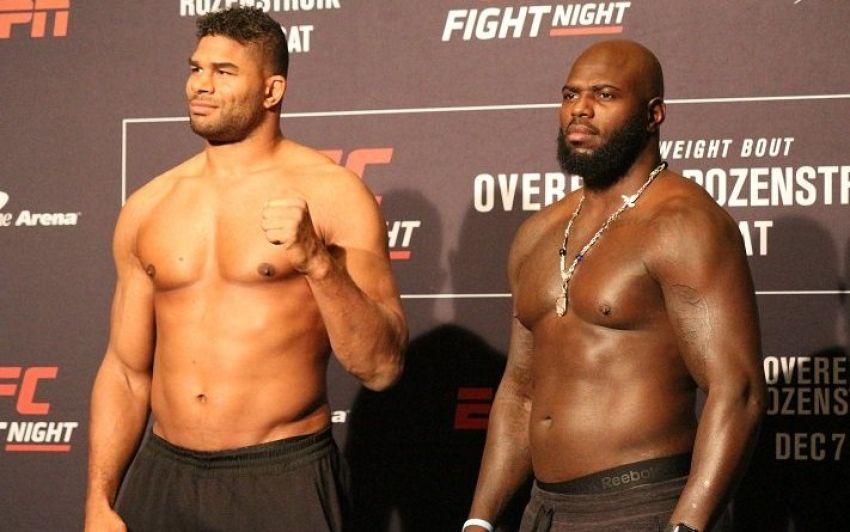 Церемония взвешивания перед турниром UFC on ESPN 7: Алистар Оверим - Жаирзиньо Розенструйк