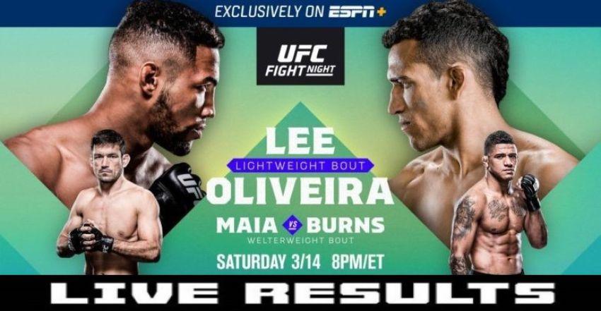 Результаты турнира UFC Fight Night 170: Кевин Ли - Чарльз Оливейра
