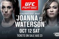 Официально: Йоанна Енджейчик и Мишель Уотерсон встретятся на турнире UFC в Тампе