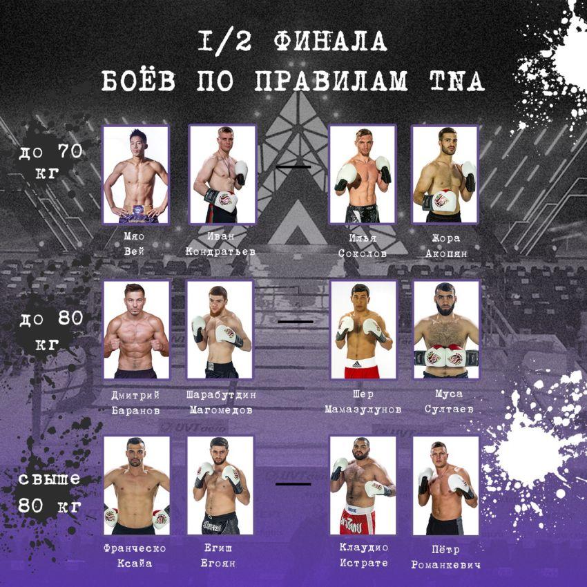 Прямая трансляция турнира боев по правилам TNA 1/2 финала
