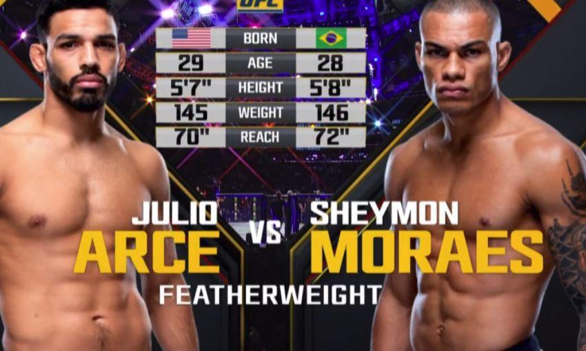 Видео боя Хулио Арсе - Шеймон Морае UFC 230