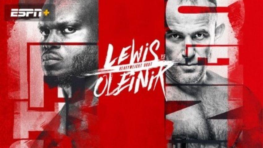 Файткард турнира UFC on ESPN+ 32: Алексей Олейник - Деррик Льюис