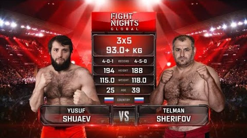 Видео боя Юсуп Шуаев - Тельман Шерифов Fight Nights Global-GFC