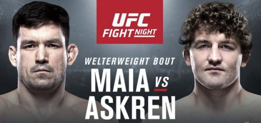 Ставки на UFC Fight Night 162: Коэффициенты букмекеров на турнир Бен Аскрен - Демиан Майя