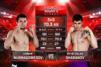 Видео боя Усман Нурмагомедов - Святослав Шабанов Fight Nights Global-GFC