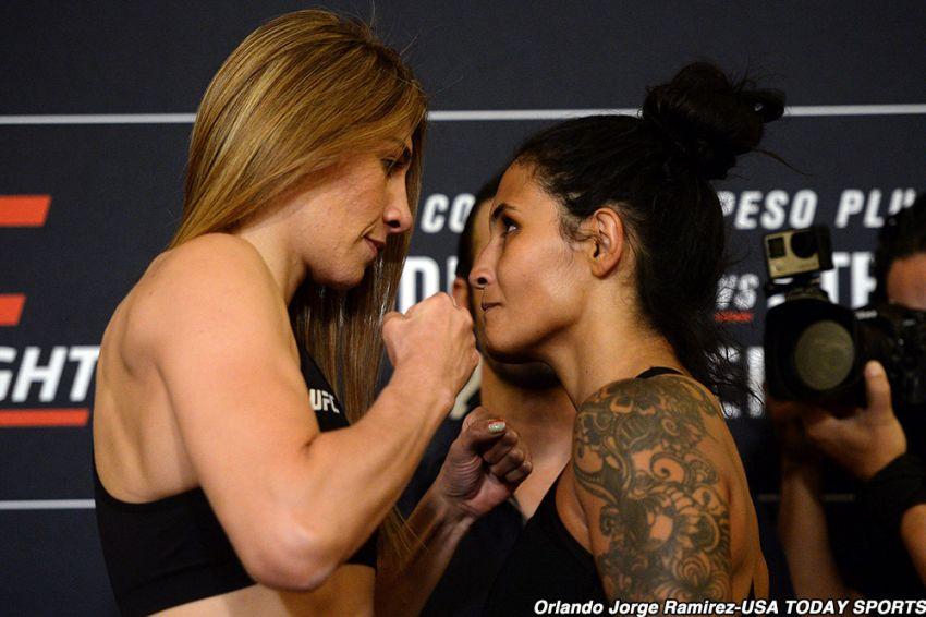 Видео боя Ирэн Алдана - Ванесса Мело UFC Fight Night 159
