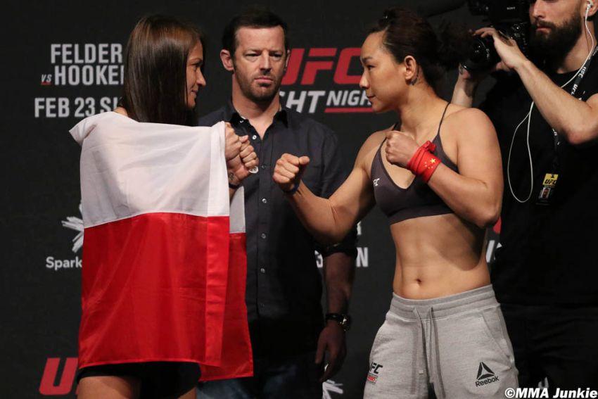 Видео боя Каролина Ковалькевич - Ян Сяонянь UFC Fight Night 168