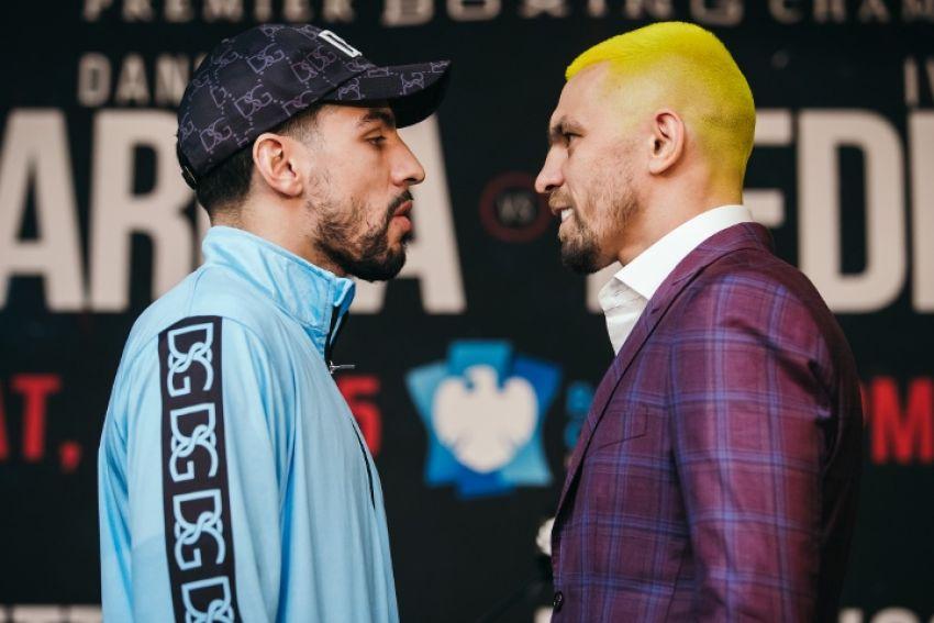 Дэнни Гарсия и Иван Редкач встретились лицом к лицу на финальной пресс-конференции