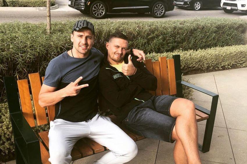 Александр Усик и Александр Гвоздик встретились в Калифорнии