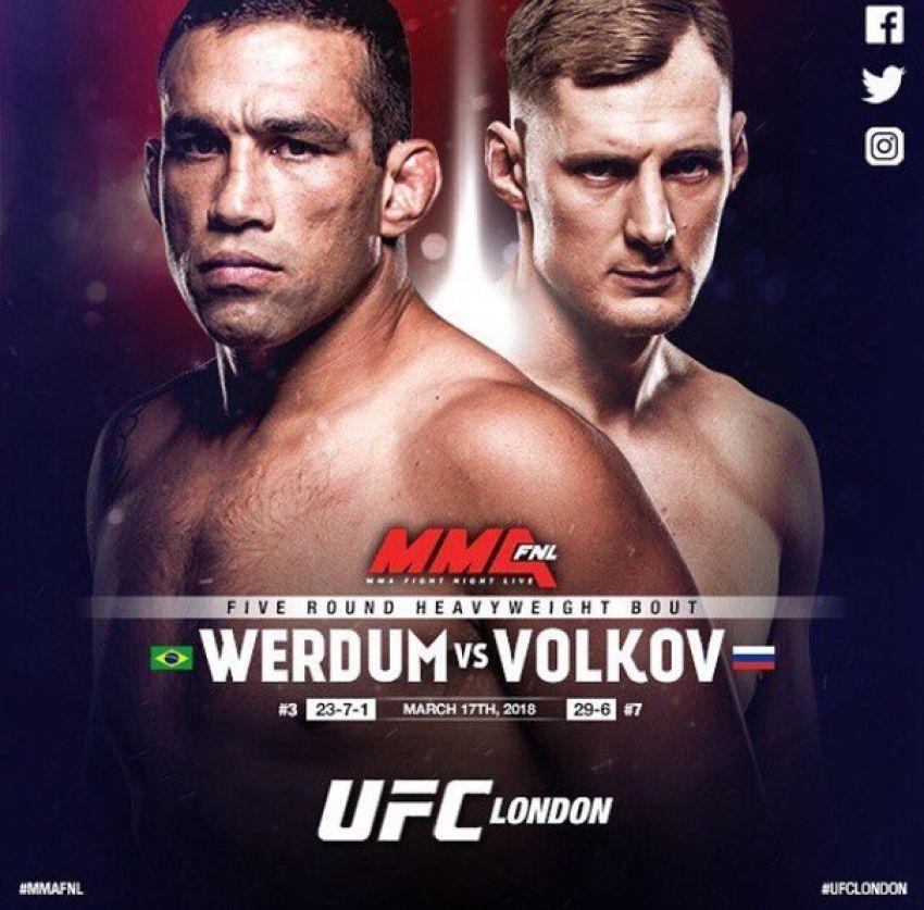 Прямая трансляция UFC Fight Night 127 Александр Волков - Фабрисио Вердум