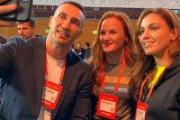 Валентина Шевченко познакомилась с Владимиром Кличко на технологической конференции в Португалии