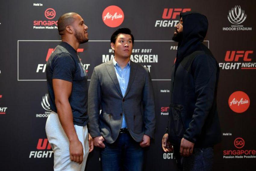 Видео боя Сирил Гэйн - Дон`Тэйл Майес UFC Fight Night 162
