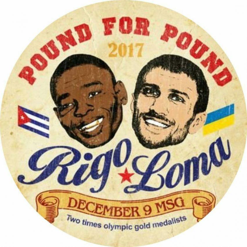 Постер к бою Ломаченко - Ригондо в стиле ретро