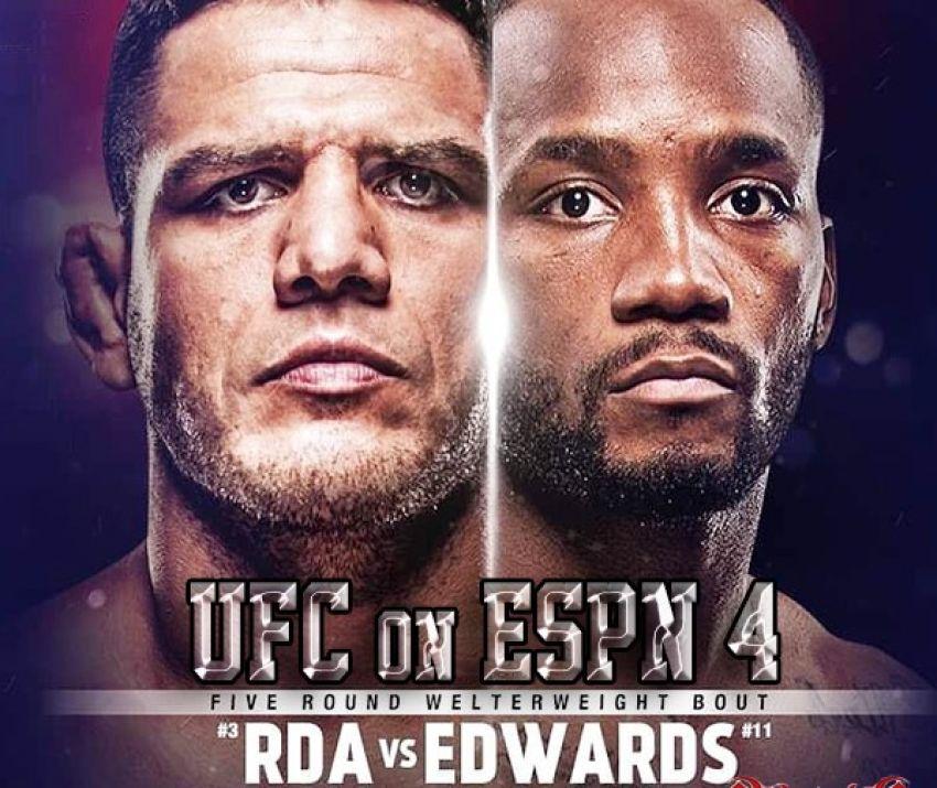 Букмекерские ставки на UFC on ESPN 4: Коэффициенты на турнир Рафаэль Дос Аньос - Леон Эдвардс