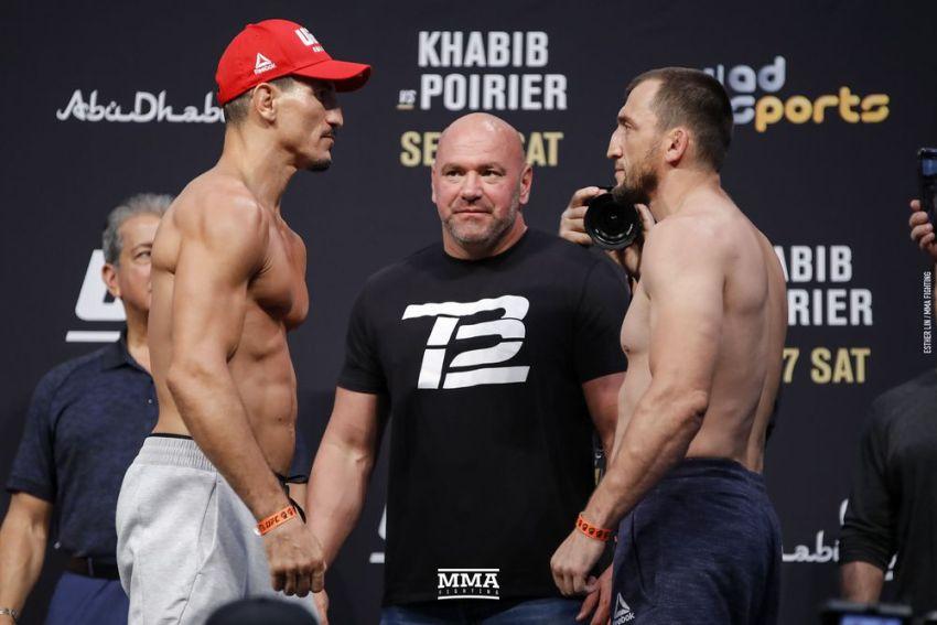 Видео боя Муслим Салихов - Нордин Талеб UFC 242
