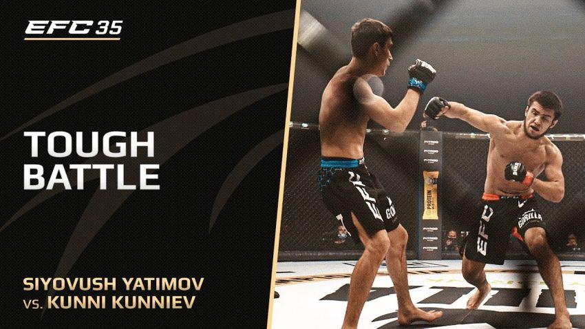 Видео боя Кунни Куниев – Сиевуш Ятимов EFC 35