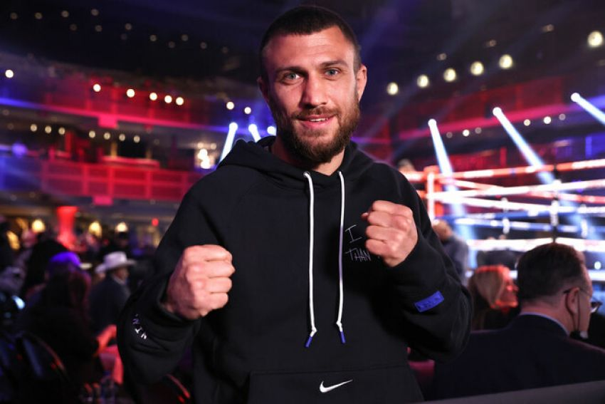 Vasiliy Lomachenko arrives at Virgin Hotels in Las Vegas, where his fight with Masayoshi Nakatani will take place
