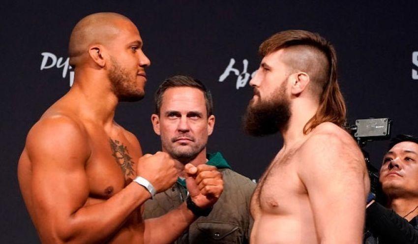 Видео боя Сирил Гэйн - Таннер Босер UFC Fight Night 165