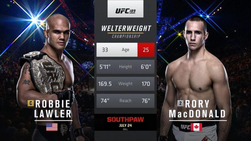 Видео боя Робби Лоулер - Рори МакДональд 2 UFC 189