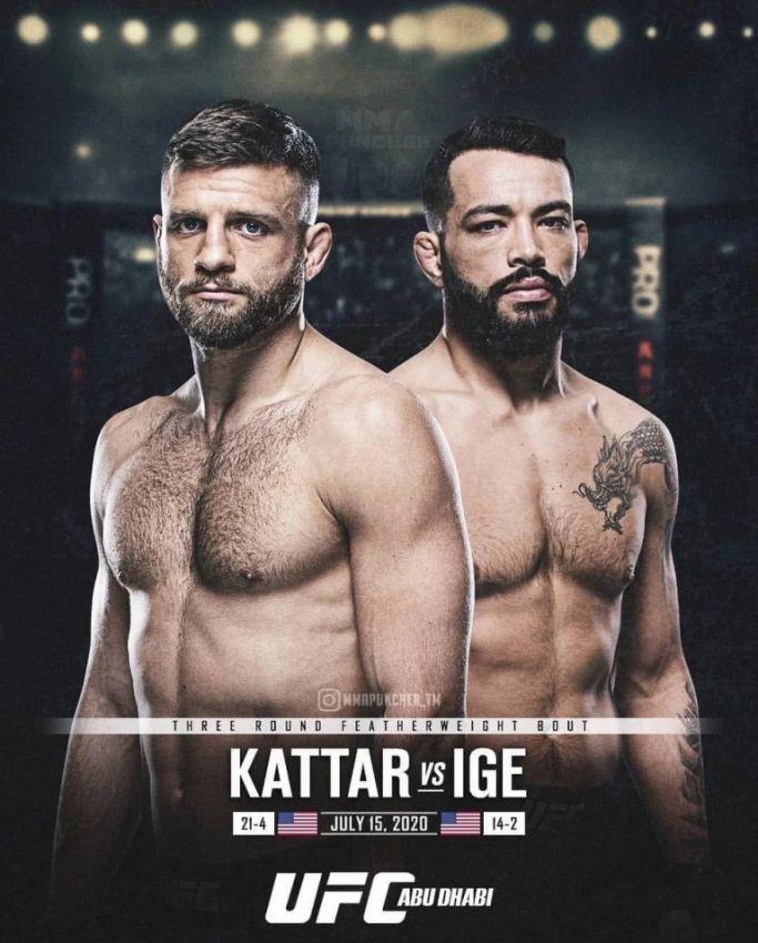 Где смотреть UFC on ESPN 13: Келвин Каттар – Дэн Иге