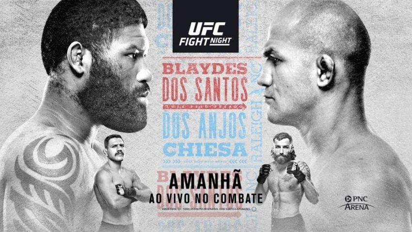 Файткард турнира UFC Fight Night 166: Кертис Блэйдс - Джуниор Дос Сантос