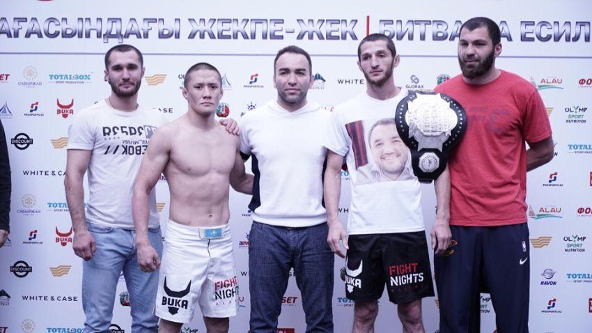 Результаты взвешивания участников турнира Fight Nights Global 88: Уланбеков - Жумагулов