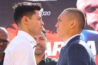 Райан Гарсия и Франциско Фонсека встретились лицом к лицу на финальной пресс-конференции