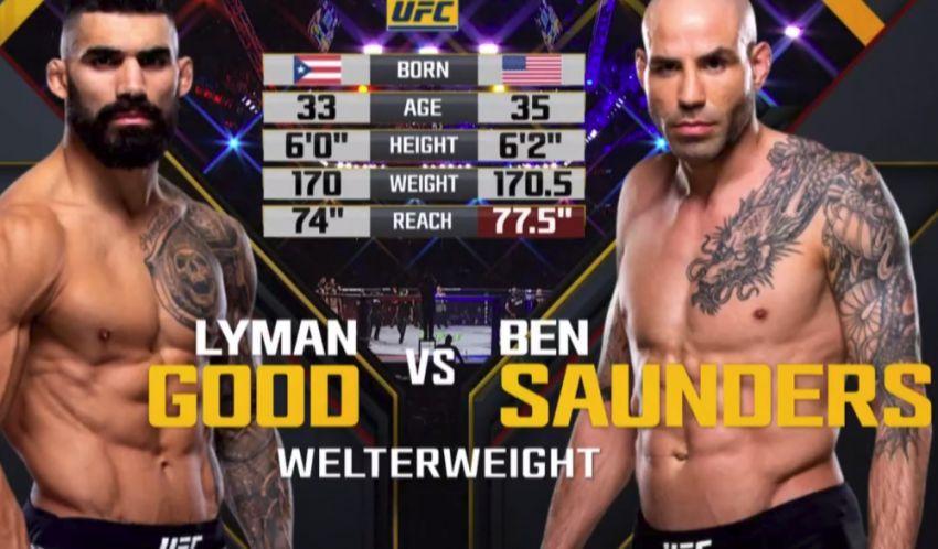 Видео боя Бен Сондерс - Лайман Гуд UFC 230