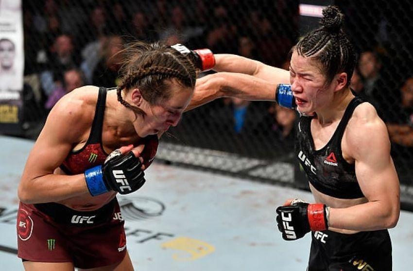 Вейли Жанг победила Йоанну Енджейчик в ожесточенном поединке на UFC 248