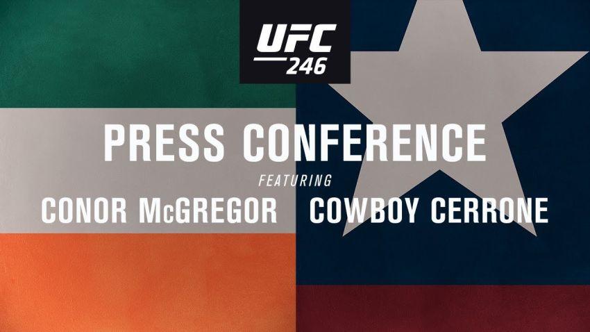 Прямая трансляция пресс-конференции UFC 246: Конор МакГрегор  - Дональд Серроне