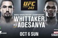 Прямая трансляция UFC 243: Роберт Уиттакер - Исраэль Адесанья