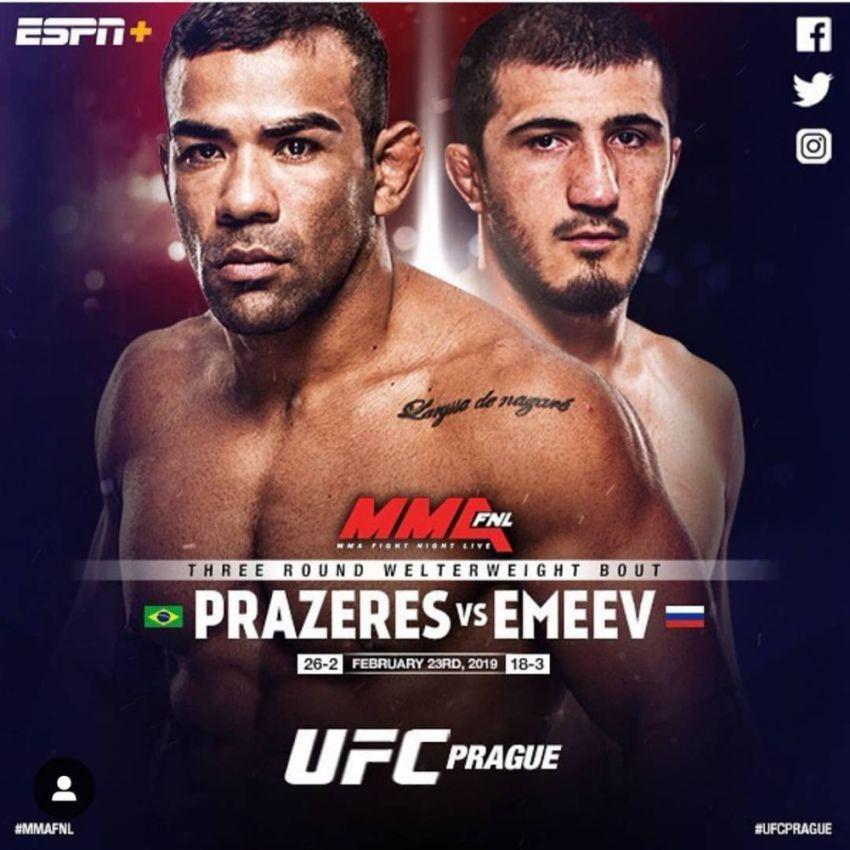 Рамазан Эмеев не сможет принять участие в турнире UFC Fight Night 145