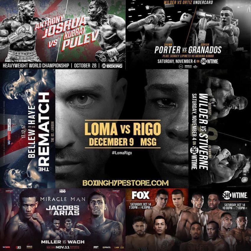 Главные боксерские поединки осени 2017