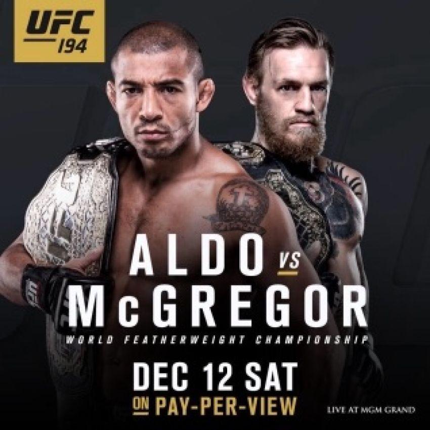 Прямая трансляция взвешивания участников UFC 194: Aldo vs. McGregor