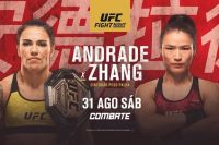 UFC Fight Night 157 Джессика Андраде - Вейли Жанг, Хадис Ибрагимов - Да Юн Чжун. Смотреть онлайн прямой эфир