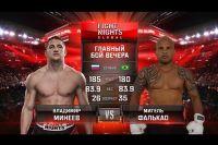 Видео боя Владимир Минеев - Майкель Фалькао FIGHT NIGHTS GLOBAL 56