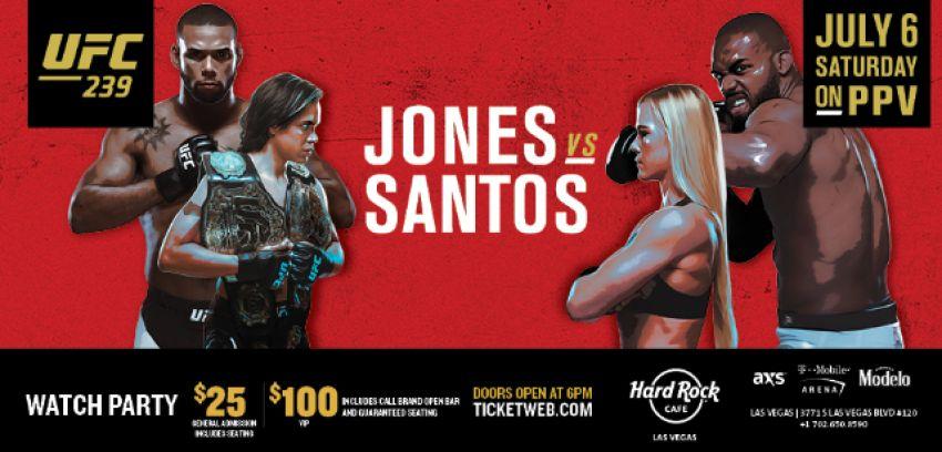Ставки на UFC 239: Коэффициенты букмекеров на турнир Джон Джонс - Тиаго Сантос, Аманда Нуньес - Холли Холм
