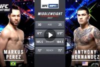Видео боя Маркус Перес - Энтони Эрнандес UFC Fight Night 144